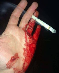 #Blood #Hand #Smoke