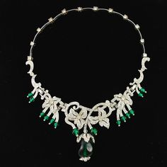Extraordinary Vintage Kramer Crown Jewels Necklace