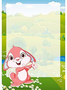 papier lettre imprimer petit lapinou de pques beverly fortier easter bunny letters