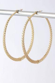 Vanessa Gold Hoop Earrings