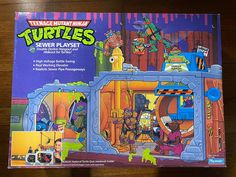 1989 Sewer Lair Playset Sealed, Boxed Ninja Turtle Toys, Teenage Mutant Ninja Turtles, Neca Figures, Tmnt, Seal, Comic Books, Cartoons, Comics, Comic Book