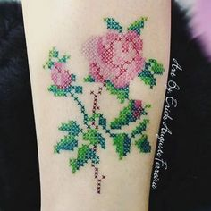 What if I did this punto de Cruz type thing but I did it with one of the things mi ama made Unique Tattoos, Beautiful Tattoos, Small Tattoos, Body Art Tattoos, New Tattoos, Tatoos, Cruces Tattoo, Cross Stitch Tattoo, Bestie Tattoo