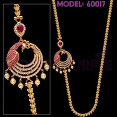 For Ordering, please WhatsApp to 897 809 9777 with Model Number of the item you want to purchase and Delivery Address 1 Gram Gold Jewellery, Gold Jewellery Design, Gold Jewelry, American Diamond Jewellery, Gold Chain Design, Gold Mangalsutra Designs, Peacock Jewelry, Jewelry Model, Pendant Jewelry