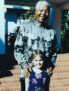 Candice Dean and Madiba. Submitted by Lieutenant Colonel Aaron Dean Nelson Mandela, Activities To Do, Young People, Dean, Memories, In This Moment, Celebrities, Children, Memoirs