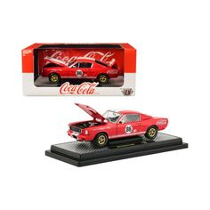 1965 Ford Mustang Shelby G. Coca-Cola Coke Red Limited Edition to pieces Worldwide Diecast Model Car by Machines - Real rubber tires. - Has steerable wheels. - Opening hood, doors and trunk. Ford Mustang Shelby Gt, 1965 Shelby Cobra, Ford Mustang Coupe, 1965 Mustang, Toy Model Cars, Diecast Model Cars, Shelby Gt350r, Ford Pickup Trucks, Cool Sports Cars