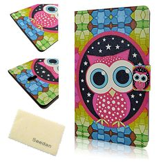 Samsung Galaxy Tab S 8.4 SM-T700 Case, Seedan Slim Design Big Eyes Owl Flip Leather Stand Cover Skin Folio Protective Pouch for Samsung Tab S 8.4 inch. Compatible with Samsung Galaxy Tab 8.4. Bling cover perfectly secure your device and easy access to all buttons, sensors, and ports. Full access to user interface, camera lens, headphone jack, speakerphone and microphone. Allows charging without removing the case. Form-fitting case designed to perfectly fit your Phone.
