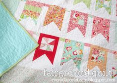 Everyday Celebrations: Tutorial: Fairground Quilt {banner quilt}