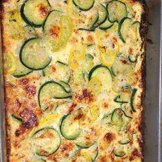 Zucchini Pie, Zuchinni Recipes, Zucchini Casserole, Recipe Zucchini, Pie Recipes, Vegetable Recipes, Vegetarian Recipes, Cooking Recipes, Easy Recipes
