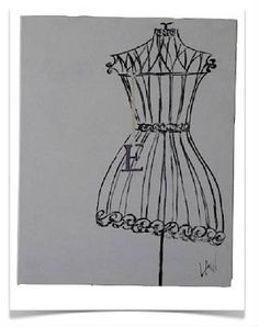 "Dress Mannequin with ""E""initial"