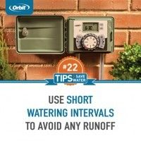 Use short watering intervals to avoid runoff