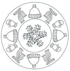 Kleurplaten Winter Mandala.64 Beste Afbeeldingen Van Winter Kleurplaten