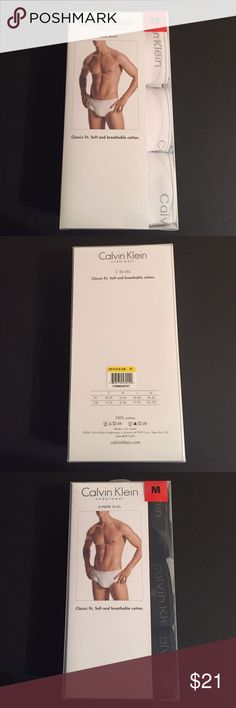 Calvin Klein 3 pack Briefs (M) Brand new in box. Calvin Klein Men underwear briefs. Comes with 3 in one pack. Classic fit. Soft and breathable cotton. Size is medium. Colors option is either white or black. Calvin Klein Underwear Underwear & Socks Briefs