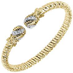 4 mm bracelet made of all 14k goldand diamonds. Style # 22355GD04 #VAHAN #VahanStyle #Bracelet #Gold #Diamonds