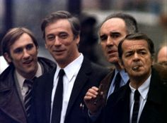 Gerard Depardieu, Yves Montand, Michel Piccoli and Serge Reggiani in Vincent, François, Paul … et les Autres directed by Claude Sautet, 1974