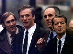 """Depardieu, Montand, Piccoli, Reggiani dans """"Vincent, François, Paul et les autres"""" (Claude Sautet, 1974)"""