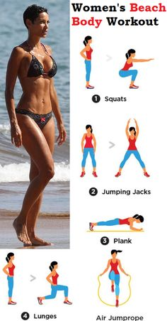 Not only does this butt and thigh workout offer a different way to work the lower body, it also engages the muscles in ways that aren't always easy to target or isolate with more traditional strength training. Beach Body Workout Plan, At Home Workout Plan, Butt Workout, Gym Workouts, At Home Workouts, Woman Workout, Thigh Exercises, Jumping Jacks, Athletic Women