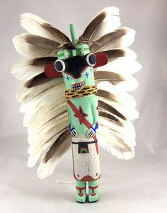 Territorial Indian Arts  Traditional Hopi Ahote Kachina is carved from dried cottonwood root by Kevin Chavarria of First Mesa.