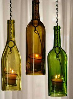 Ideias com garrafas.