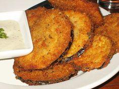 Eggplant - Nells Old Fashion Recipes Fried Eggplant Recipes, Eggplant Fries, Eggplant Dishes, Eggplant Burger, Side Dish Recipes, Gourmet Recipes, Vegetarian Recipes, Cooking Recipes, Healthy Recipes