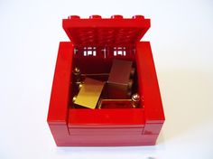 RED Cufflinks Gift / Display Box. Handmade with by bitsandbadges, $6.95