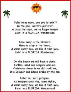 Livin in a Florida Wonderland- To cute had to share :) just sang it  to myself