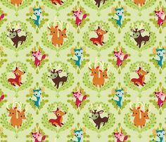 Unidentified Animals fabric by jordan_elise on Spoonflower - custom fabric