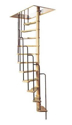 project live in mezzanine workshop ships ladder on rollers made with steel wood ply. Black Bedroom Furniture Sets. Home Design Ideas