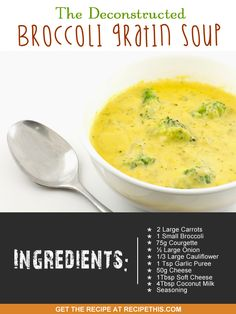 Welcome to my deconstructed broccoli gratin soup. I know it sounds weird doesn't it? After all the idea that you could have a deconstructed broccoli gratin has weird written all over it. Smoothie Recipes, Soup Recipes, Free Recipes, Morphy Richards Soup Maker, Broccoli Gratin, Slow Cooker Recipes, Cooking Recipes, Soup And Sandwich, Slimming World Recipes