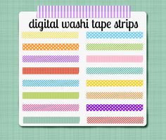 Washi Tape Strips - Digital Clip Art Graphics