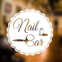 Nail Bar Wall Sticker Salon Beauty Decal Art Hair Graphic Hairdresser Vinyl Ns3