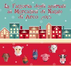 C'è uno spazio particolare all'interno del Mercatino di Natale di Arco, la Fattoria degli animali dal 21 novembre 2015 al 3 gennaio 2016 @gardaconcierge