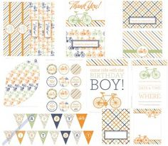 Bike Party Printable Collection - Boys - $0.00