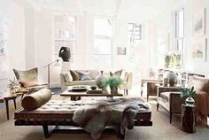 Brad Ford {eclectic modern living room} by recent settlers, via home design designs Living Room New York, Living Room Photos, Living Room Modern, Home And Living, Living Room Designs, Living Spaces, Living Rooms, Cozy Living, Living Area