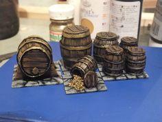 Grim's Dungeons of Doom: Scraping the barrel, making mini barrels.   The Grinning Skull
