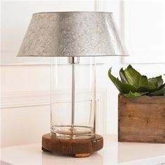 Rustic Modern Galvanized Table Lamp