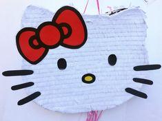Piñata Hello Kitty, Hello Kitty Pinata, Hello Kitty Birthday, Emoji Pinata, Birthday Party Favors, Birthday Parties, Baby Shower Niño, Ideas Para Fiestas, Crepe Paper