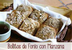 RECETA: Bollitos de Fonio con Manzana (receta vegetariana, sin gluten ni leche)