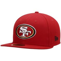 San Francisco 49ers New Era State Clip 59FIFTY Fitted Hat - Scarlet