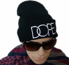 35d860adefa Stylish Black DOPE Beanie Hat by TheeDawlHouse on Etsy