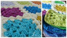 Granny Tiles crochet squares blanket