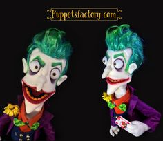 The joker puppet by Puppetsfactory on Etsy https://www.etsy.com/uk/listing/552376202/the-joker-puppet