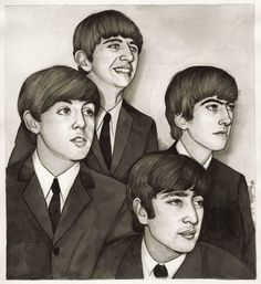 The Fab Four Art Print (also available in stretched canvas)