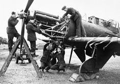 Fitters working on the Rolls-Royce Merlin engine of a Boulton Paul Defiant of No. 125 Squadron RAF at Fairwood Common, Wales, January Fitters working on the Rolls-Royce Merlin III of a No 125 Squadron Defiant at Fairwood Common, January Rolls Royce Merlin, Bristol Beaufighter, De Havilland Mosquito, Aircraft Maintenance, Battle Of Britain, Ww2 Aircraft, Royal Air Force, Royal Navy, World War Two