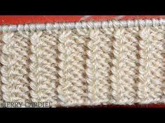 Baby Knitting Patterns, Knitting Stitches, Stitch Patterns, Cute Stitch, Knitting Videos, Origami Tutorial, Needlework, Knit Crochet, Arts And Crafts