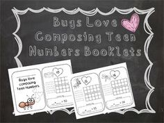 This bug themed math booklet focuses on numbers 10-20. The students will be asked to trace and write numerals 10-20, show quantities on ten-frames, and compose addition sentences.This booklet is the prefect way to extend math into your insect unit.  Don't forget to rate and leave a comment to earn TPT credit.