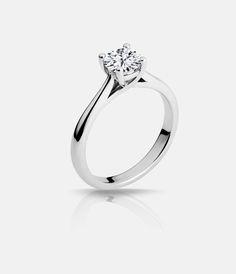 Lux Bond & Green | Naledi 18k White Gold MacKenzie Style Solitaire Engagement Ring Diamond Solitares