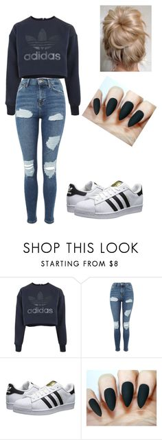 """Untitled #25"" by weinsteini on Polyvore featuring adidas, Topshop and adidas Originals"