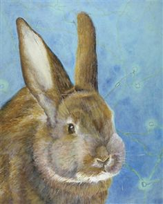A Prosthetic Painting: Bunny<br />Acrylic & Collage on Canvas, Mixed Media