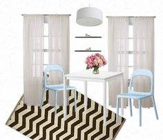 The Lovely Side: Chevron Chic Dining Room on a College Budget