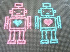 Robot Love Cross Stitch